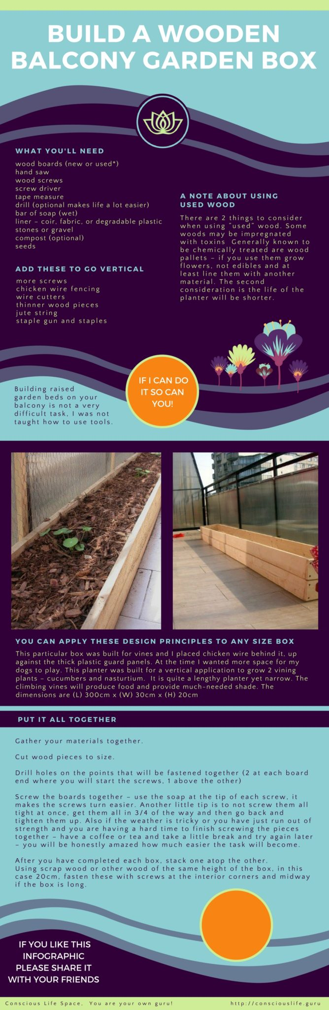 step by step how to build a wooden planter box for your city garden balcony