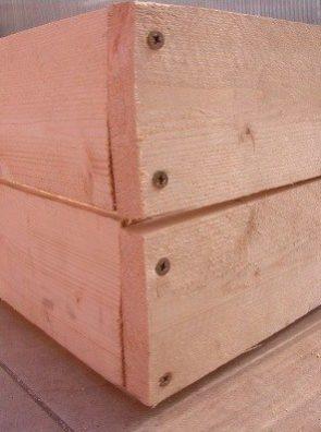 balcony garden raised wooden planter box - conscious life space - detail
