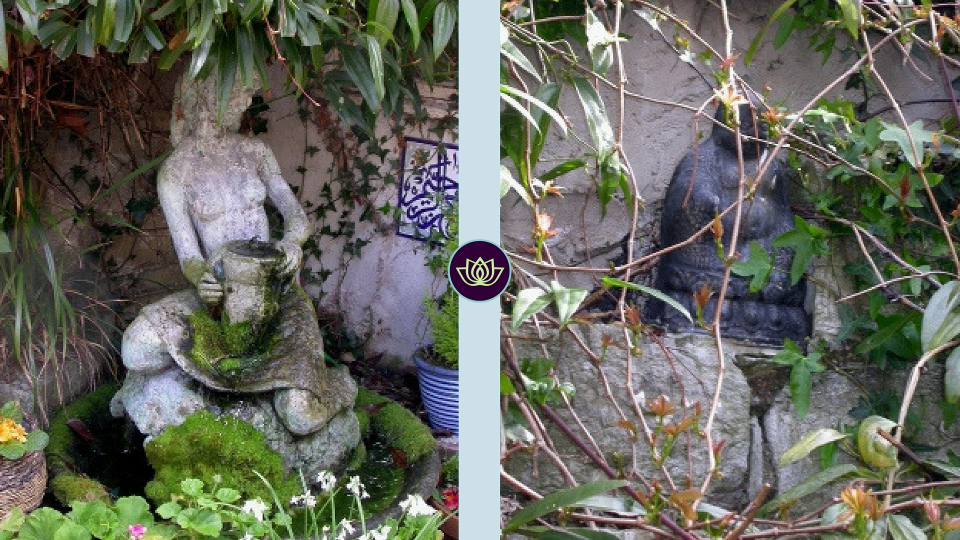 Glastonbury Terrace Garden Focal Points - Garden Statues