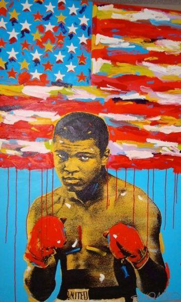 Pop Art image of Muhammad Ali by John Stango CC3