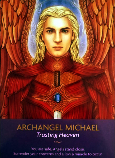 Archangel Michael Keepers of the Light Oracle Card - Lily Moses Art and Kyle Gray text - Conscious Life Space Guru