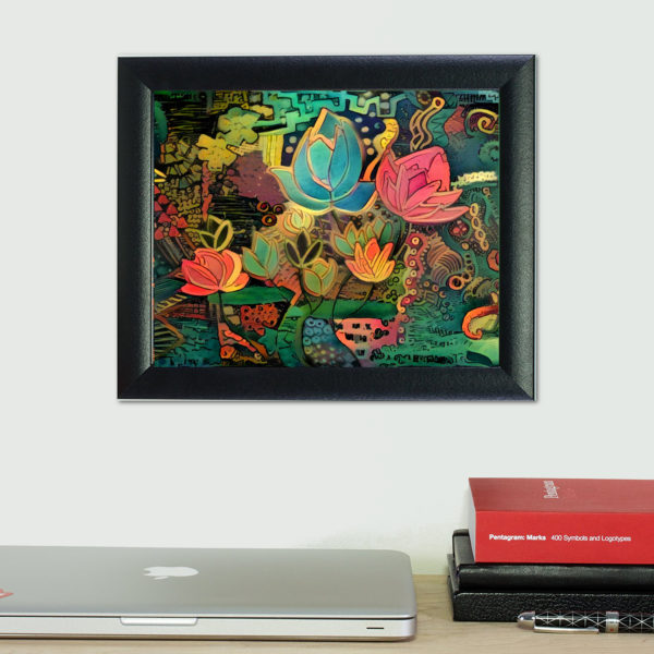 craig frame shown with a fine art print by artist amy adams - Conscious Life Space Guru