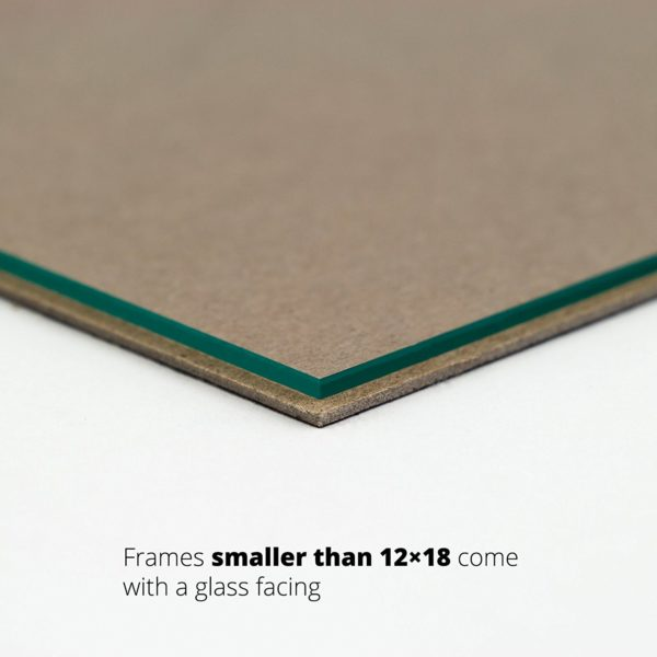 glass and backing