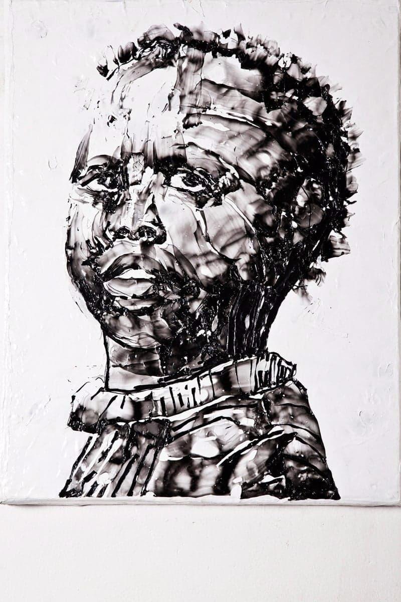 Mbongeni Buthelezi, Painting with Plastic