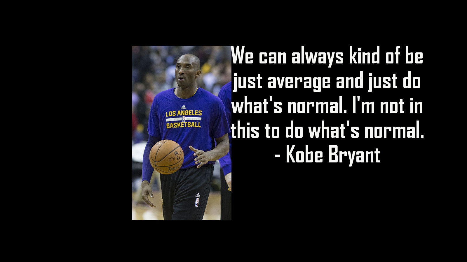 Kobe Bryant image with quote