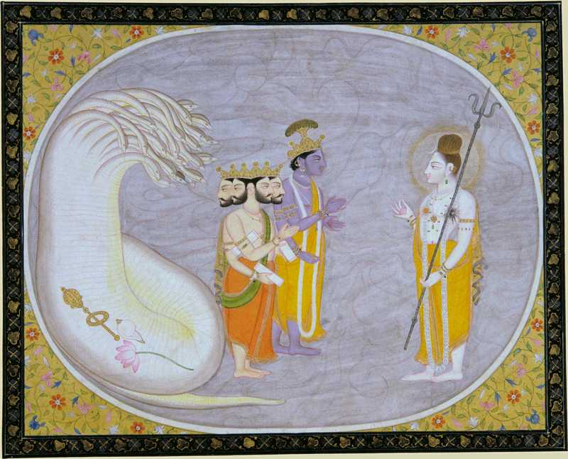 The Cosmic Ocean Brahma, Vishnu and Shiva
