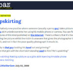 the urban dictionary's definition of upskirting - Conscious Life Space Guru