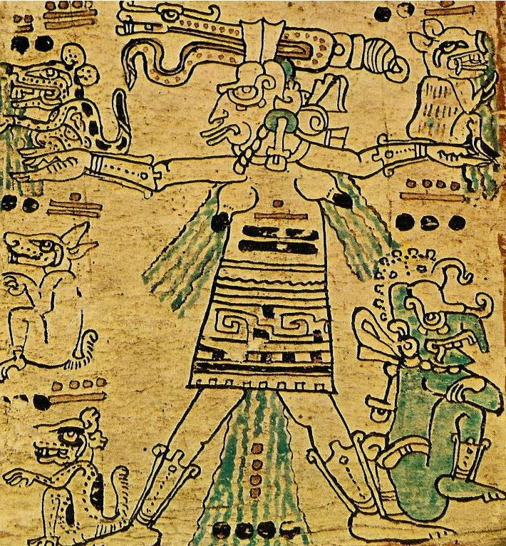 Ixchel as depicted in the Dresden Codex (CC0)