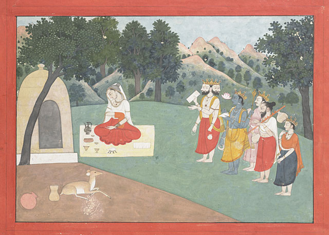 Eastern Indian Art Public Domain - Adoration of the Goddess