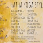 a list of Hatha Yoga Styles by conscious life space