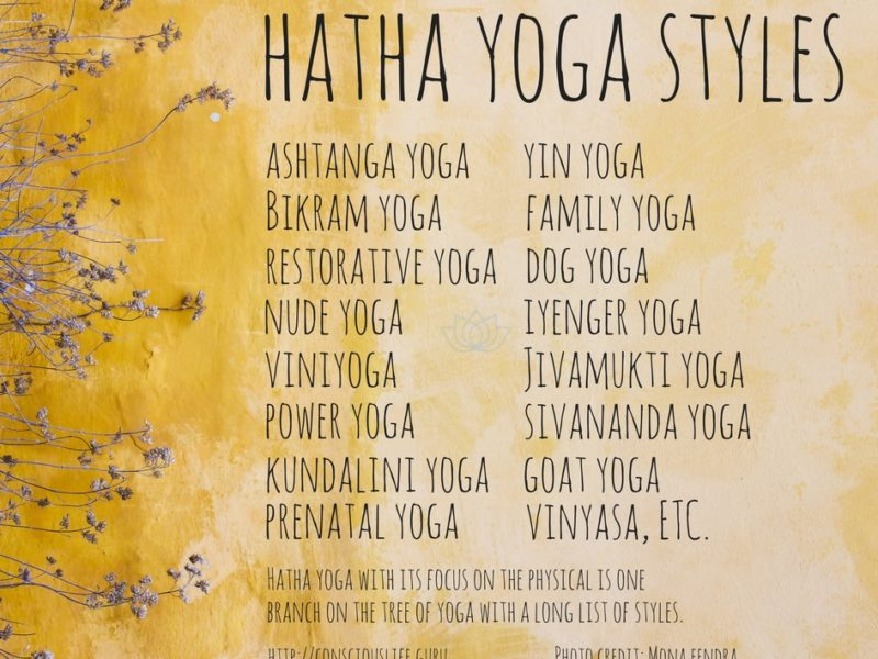 Yoga an endless list of styles, the list goes on and on and on…