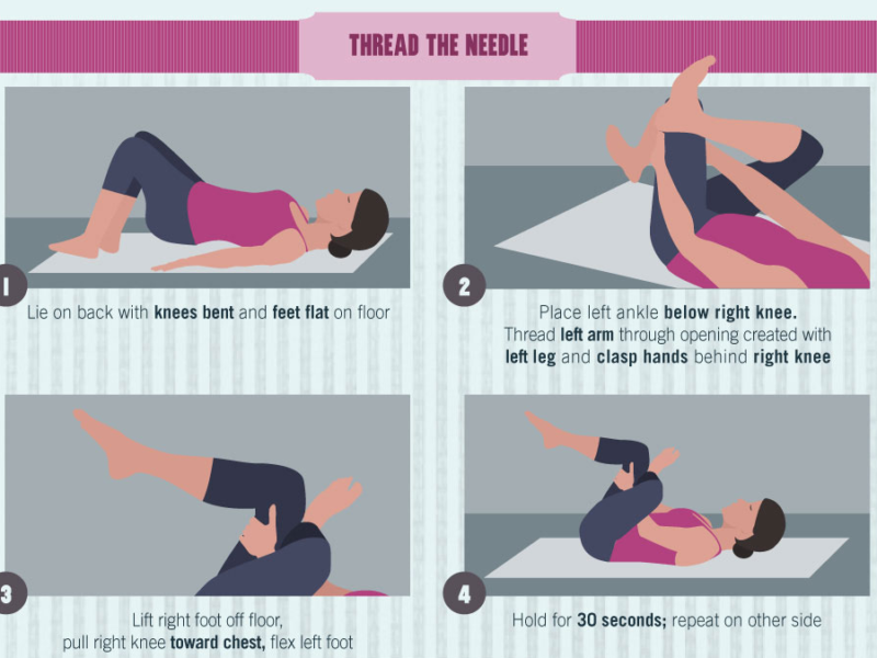 Hip Hip Hooray and Infographic with Yoga Poses for Hips