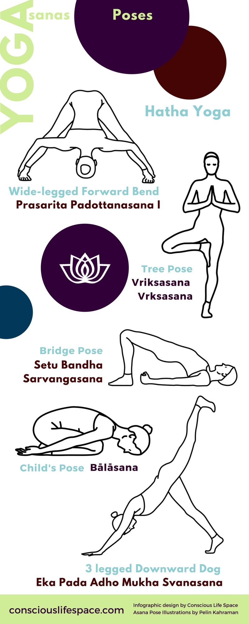 Introduction To Asanas 5 Yoga Poses Infographic By Amy Marie Adams Conscious Life Space Medium