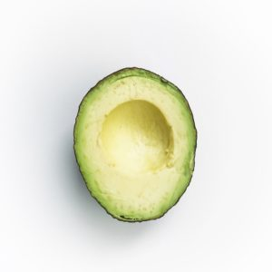 half of avocado without pit