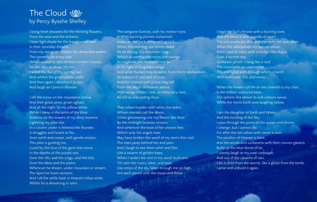 Poetry - The Cloud Percy Bysshe Shelley