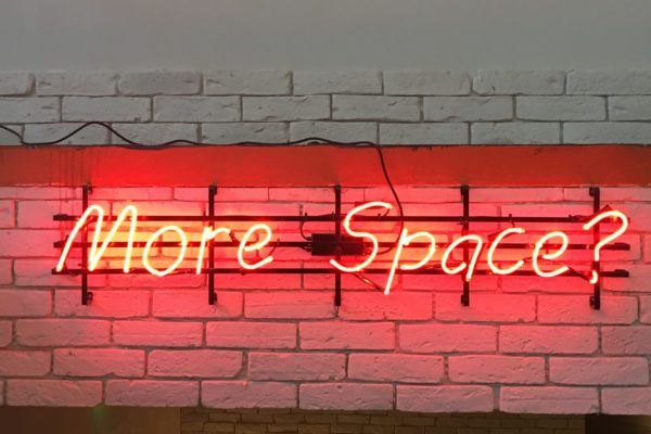 neon sign - more space - Photo by Sami Mititelu