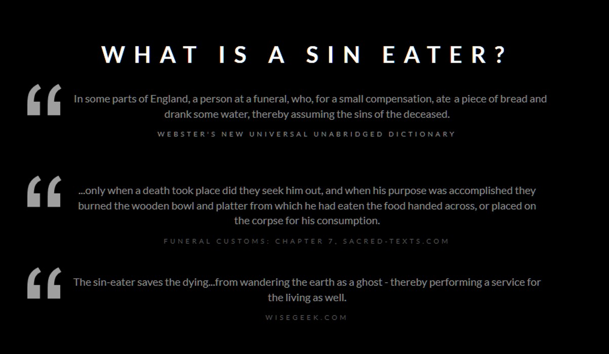 Sin-eater definition