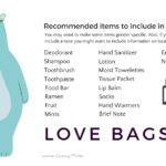 Graphic with a list of items for a love bag - Conscious Life Space