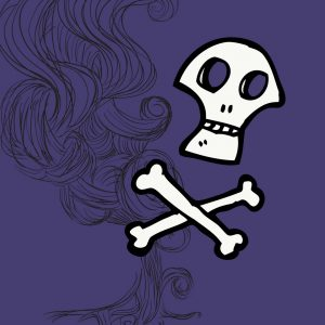 smoke skull and crossbones poison
