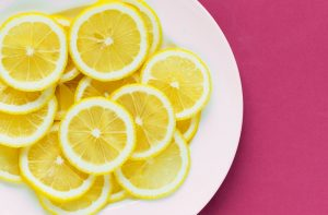 lemon slices on a plate - conscious life space