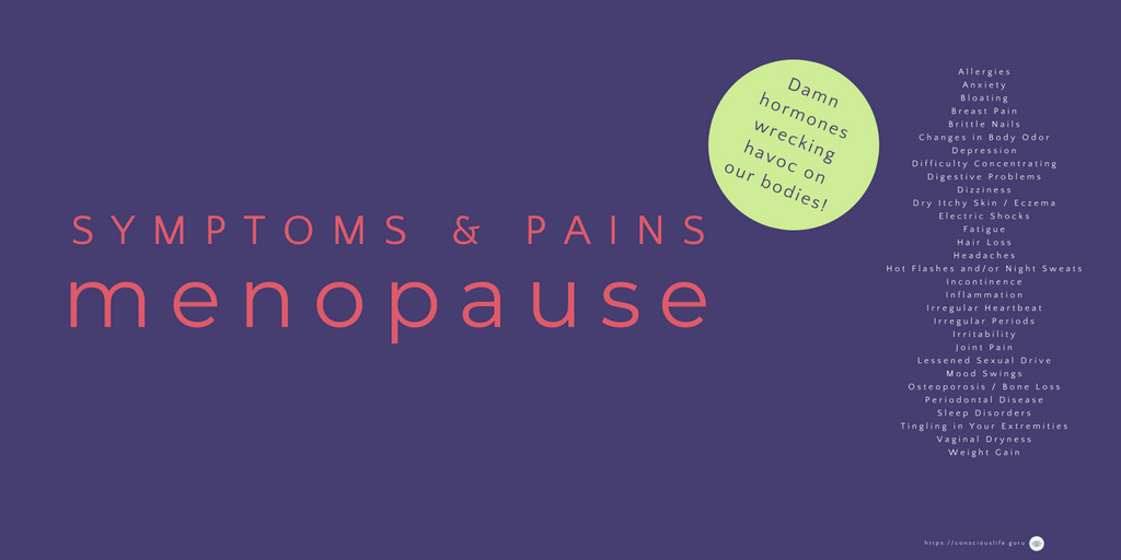 Menopause symptoms infographic