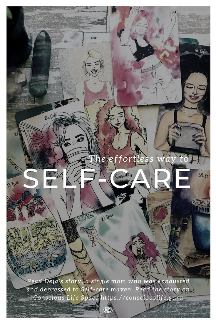 self-care inspirational cards - Deja Drewit Osbourne artist