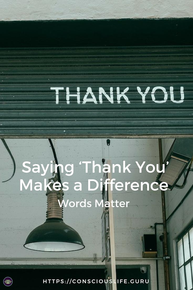 Words Matter Thank You