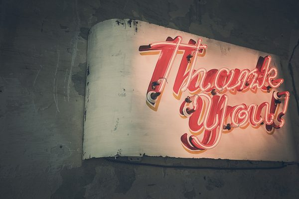 Thank You Neon Sign by Ryan McGuire