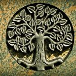 Tree of Life Engraving on a tombstone