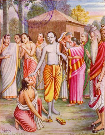 Rama and Bharata and Rama's Sandals (Paduka) Story from Ramayana