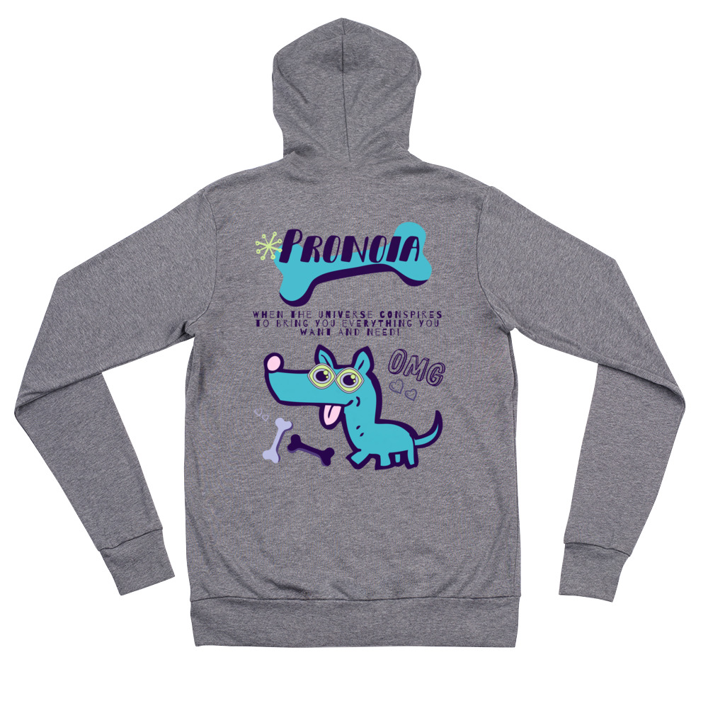 OMG Pronoia Dog Unisex Front Zip Super Soft Hoodie
