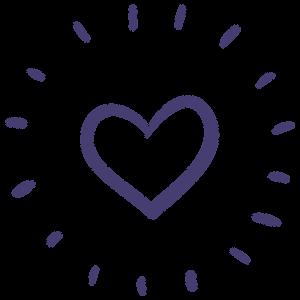 Little heart spreading love icon illustration